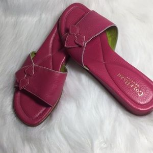 Cole Haan Shoes - Cole Haan Country Pink Slip On Slides Sandals